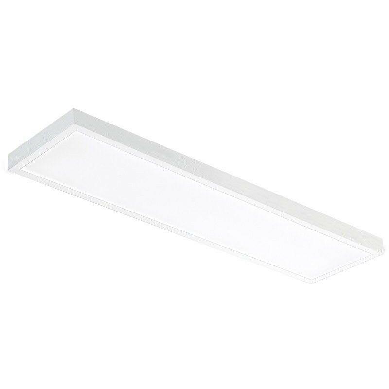 PANNELLO PLAFONIERA LED ESTERNO 120x30x3cm 48W IP40 LUCE Bianco Naturale 4500k