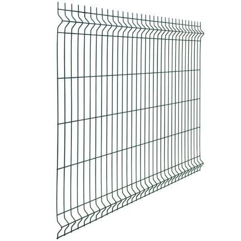 Pannello rigido recinzione rete plastificata filo Ø 5 mm H 123 cm L 250 cm modulare