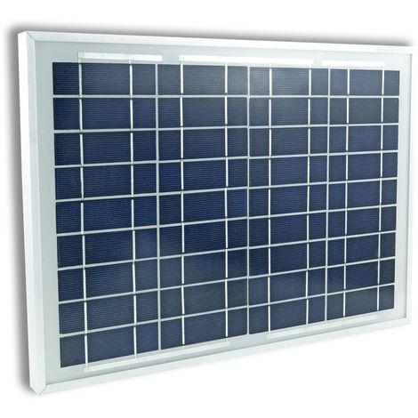 Pannello solare fotovoltaico 10w 20w 30w 50w12v celle silicio pinze batteria potenza: 10w