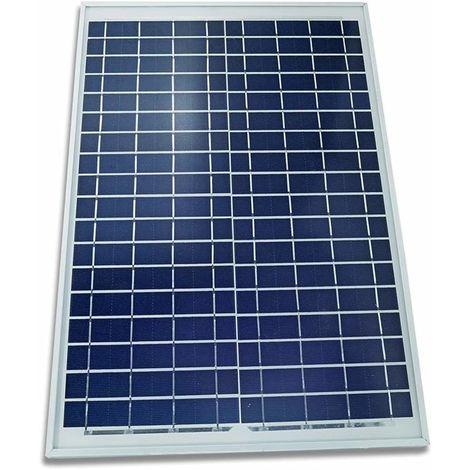 Pannello Solare Fotovoltaico Celle Silicio 20 W Watt 12V Pinze Batteria