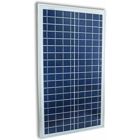 Pannello Solare Fotovoltaico Celle Silicio 30 W Watt 12V Pinze Batteria