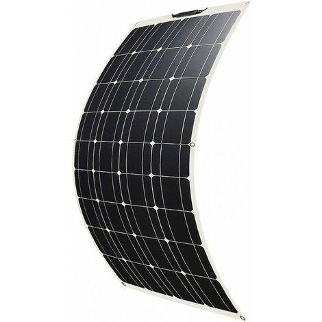 Pannello Solare Fotovoltaico Flessibile Monocristallino 50W/80W/100W/120W Camper Barca Baita Giardino