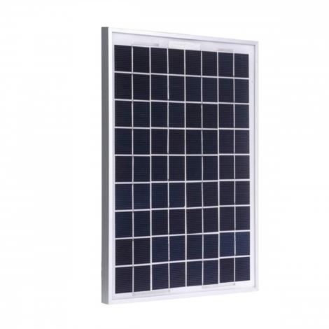 Pannello Solare Fotovoltaico Monocristallino Da 10W 18V Con Pinze A Morsa