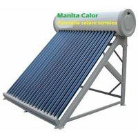 Pannello solare termico acqua calda tutto acciao inox 150 litri accessori inclus