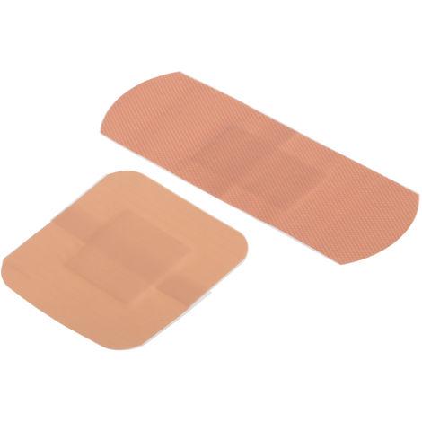 Pansement RS PRO, étanche Rose taille 3,8 x 3,8 cm, 7,2 x 2,5 cm, Auto-Adhésif, , quantité 20