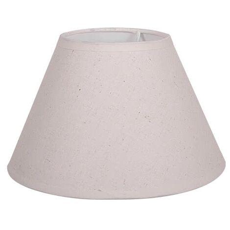 Pantalla cónica beige E27 de lámpara