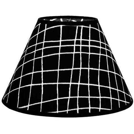 Pantalla Cónica Serie Jenifer E27 Cuadro Negro 45d