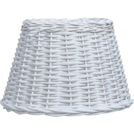 Pantalla de lámpara de mimbre blanco 45x28 cm