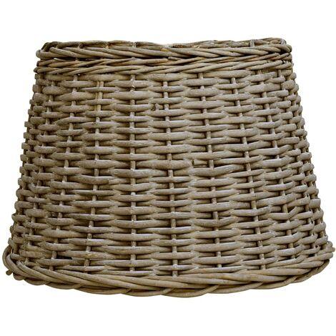 Pantalla de lámpara de mimbre marrón 50x38 cm