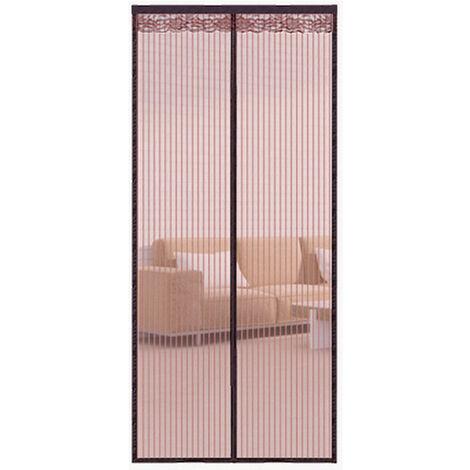 Pantalla de puerta magnetica Cortina de gasa anti-mosquitos, Cortina de puerta Mosquitera Red de insectos translucida ventilada