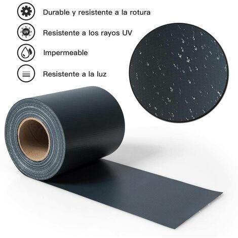 Pantalla de Valla de PVC Tiras de Pantalla de Privacidad con Clips de Fijación de 19 cm de Ancho Revestimiento para Balcón Jardín (Gris Oscuro)