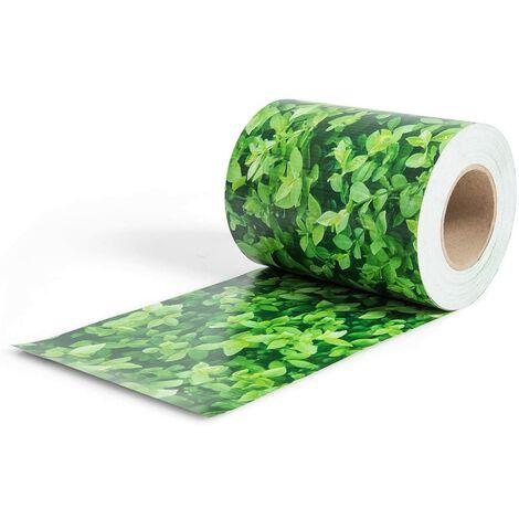 Pantalla de Valla de PVC Tiras de Pantalla de Privacidad con Clips de Fijación de 19 cm de Ancho Revestimiento para Balcón Jardín (Verde)