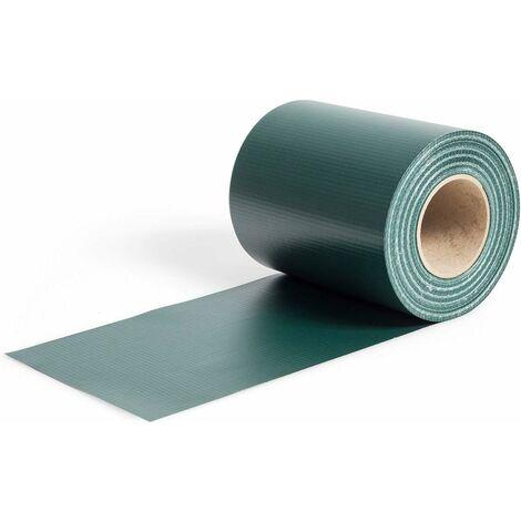 Pantalla de Valla de PVC Tiras de Pantalla de Privacidad con Clips de Fijación de 19 cm de Ancho Revestimiento para Balcón Jardín (Verde Oscuro)