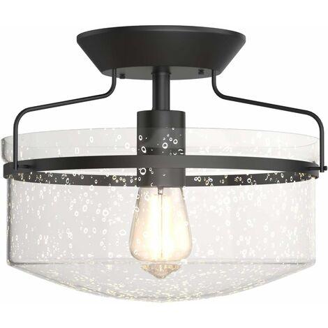 Pantalla de Vidrio para Lámpara de Techo Moderna con Portalámpara de E27 Sin Bombilla para Salón Dormitorio Comedor