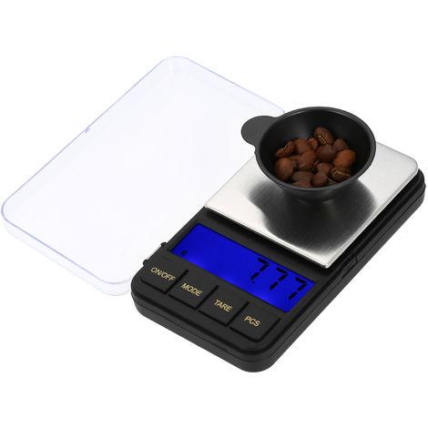 Pantalla digital LCD pequena balanza electronica, 500g / 0.01g