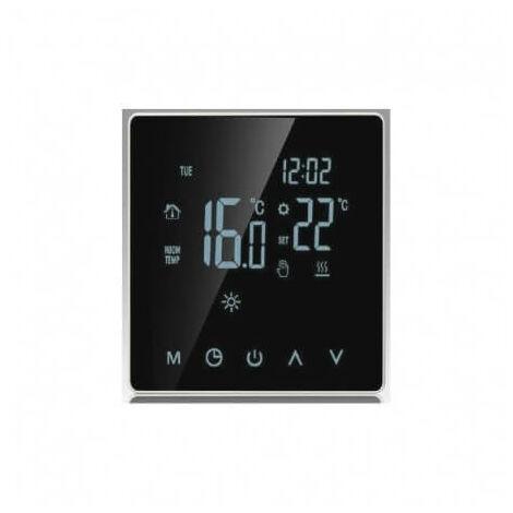 Pantalla digital Táctil Termostato 16A 230V para calefacción por suelo radiante, calefacción por suelo radiante