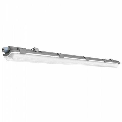 Pantalla estanca LED 1x120cm con tubos incluidos (1x18W) IP65 Temperatura de color - 6400K Blanco frío