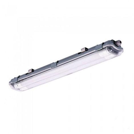 Pantalla estanca LED 2x60cm con tubos incluidos (2x10W) 6400K IP65