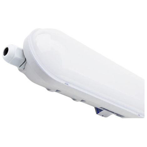 Pantalla Estanca LED 56w 120cm Vise Blanca 6000k Luz Fría Resistente a la intemperie Ip65 382126