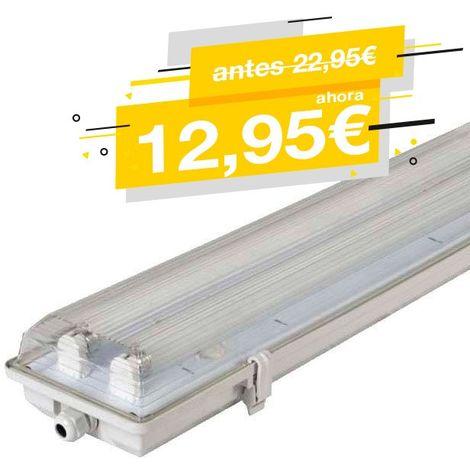 PANTALLA ESTANCA PARA 2 TUBOS LED T8 120CM
