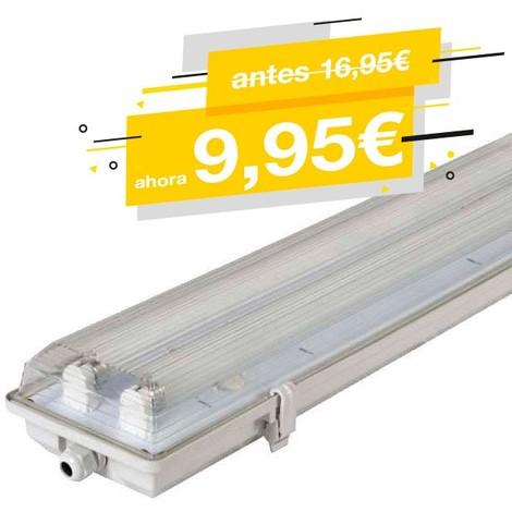 PANTALLA ESTANCA PARA 2 TUBOS LED T8 60CM