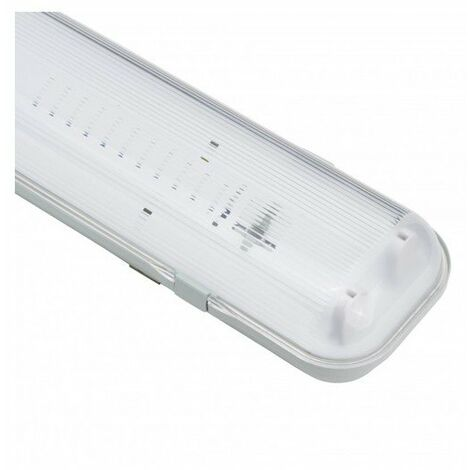 Pantalla Estanca para dos tubos LED 1200 mm (Conexión 1 Lateral) | IluminaShop