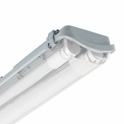 Pantalla Estanca Slim para dos Tubos LED 1200mm PC/PC Conexión un Lateral 1200 mm