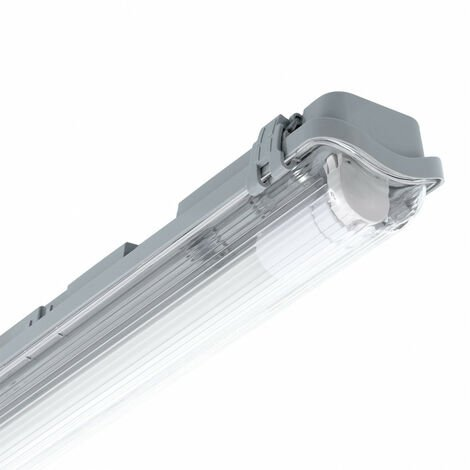 Pantalla Estanca Slim para un Tubo de LED 1200mm PC/PC Conexión un Lateral 1200 mm