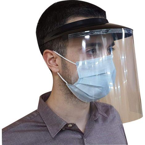 Pantalla facial con visera de protección