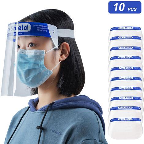 Pantalla facial protectora transparente, proteccion facial para cocina al aire libre