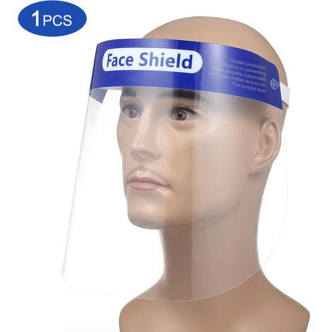 Pantalla facial protectora, visera transparente abatible, transparente, 1 piezas