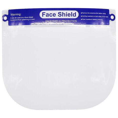 Pantalla facial, visera protectora completa, reutilizable, transparente
