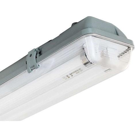 Pantalla Fluorescente Estanca Tubo T8 G13 2x18W 2500lm 4000K 7hSevenOn