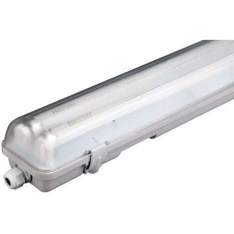 PANTALLA ILUMIN 1X24W ESTANCA FENOPL. PVC ELECTRIF. TUBO LED
