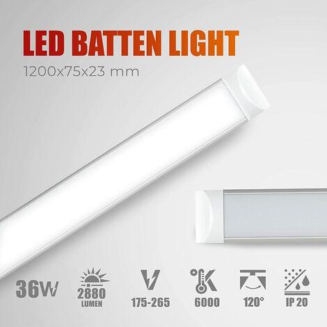 "main image of ""Pantalla LED batten light regleta libre halogeno tubo led integrado 6000K 36W 2880Lm 1200mm AC175-265V|AVANCE LED"""