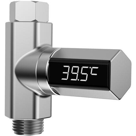 Pantalla LED de ducha de temperatura del agua del agua del termometro monitor de auto-generacion de electricidad Medidor Inteligente mascotas bebe Termometro Ducha