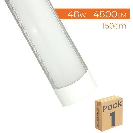 Pantalla LED Lineal 150cm 48W 4800LM A++ Luminaria Superficie   Pack 2 Uds. - Blanco Cálido 3000K