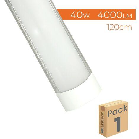 Pantalla LED Lineal Slim 120cm 40W 4000LM A++ Luminaria Superficie   Pack 1 Ud. - Blanco Frío 6500K