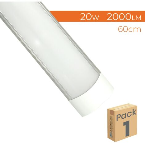 Pantalla LED Lineal Slim 60cm 20W 2000LM A++ Luminaria Superficie | Pack 5 Uds. - Blanco Neutro 4500K
