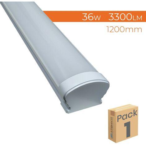 """main image of """"Pantalla LED Lineal Superficie 120cm Estanca IP65 36W 3300LM 6000K   Pack 1 Ud. - Pack 1 Ud."""""""