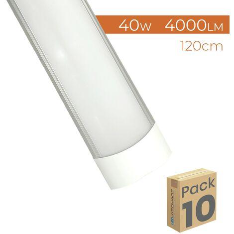 "main image of ""Pantalla LED Lineal Superficie Slim 120cm 40W 4000LM A++ | Pack 10 Uds. - Blanco Frío 6500K"""
