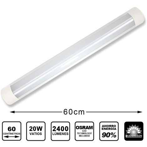 Pantalla LED SLIM SCORP IP20 con chip OSRAM 20W con 2400 Lm 4000K Blanco Neutro