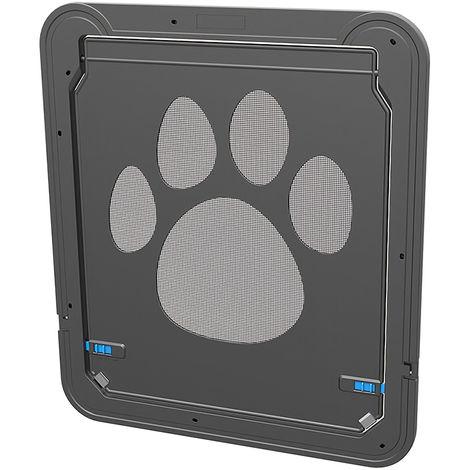 Pantalla mascota, puerta de pantalla de la aleta magnetica, con cierre autometico de la puerta Negro