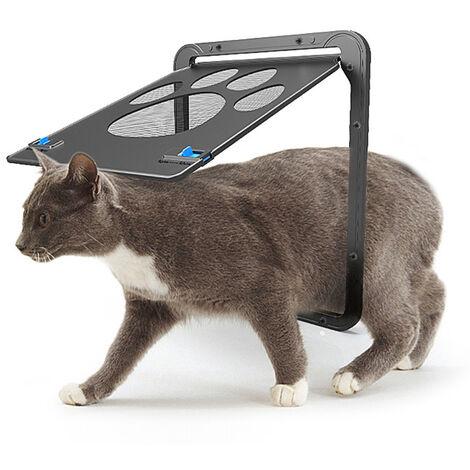 Pantalla mascota Puerta Puerta corredera de pantalla del gato Puerta para mascotas con la cerradura magnetica de la aleta automaticamente para perros peque?os gatos