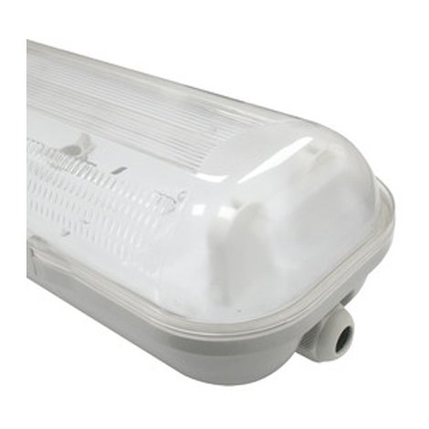Pantalla para 2 tubos LED Electro DH, para longitud tubo 600 mm, estanca IP65, de 70% ABS, 30% policarbonato, 81.001/2X600