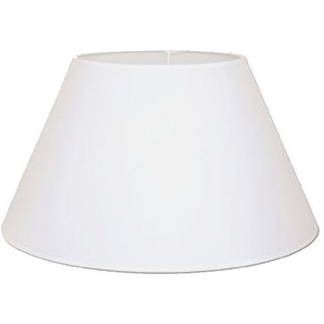 Pantalla para lámpara redonda 25x12x17cm E27 lino blanco