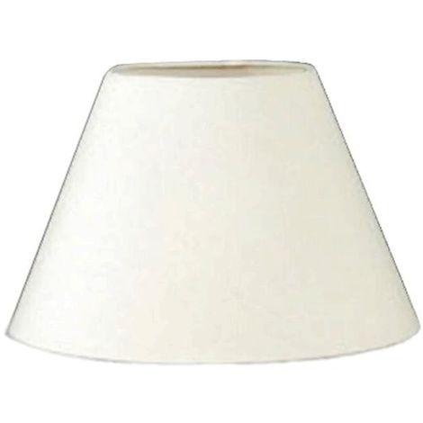 Pantalla para lámpara redonda beige 25x12x17cm E27 satiplast