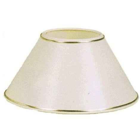Pantalla para lámpara redonda beige con filo dorado 25x12x15cm E27