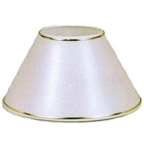 Pantalla para lámpara redonda blanca con filo dorado 35x16x21cm E27
