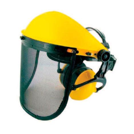 Pantalla protección facial basic diadema con protector auditivo